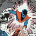 Nightcrawler teleports into the mouth of a shark!